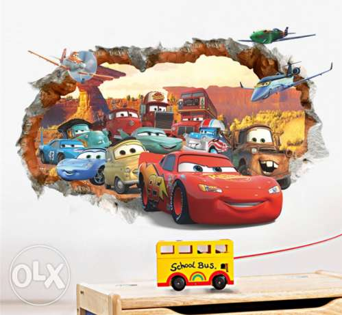 window poster 3D car wall sticker wallpaper