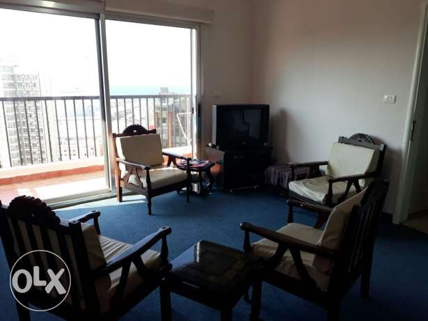 Studio-Achrafieh-Furnished-rooftop amazing panoramic sea view850$month