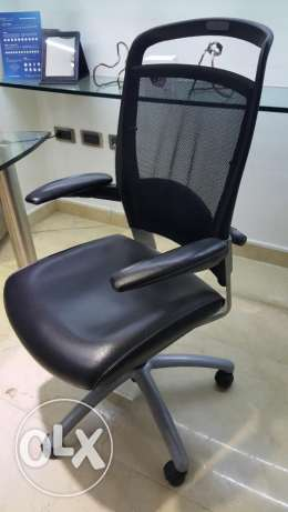 Executive Office Chairs in Mesh & Genuine Leather