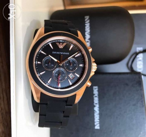 Genuine black matte and rose gold armani sportchic