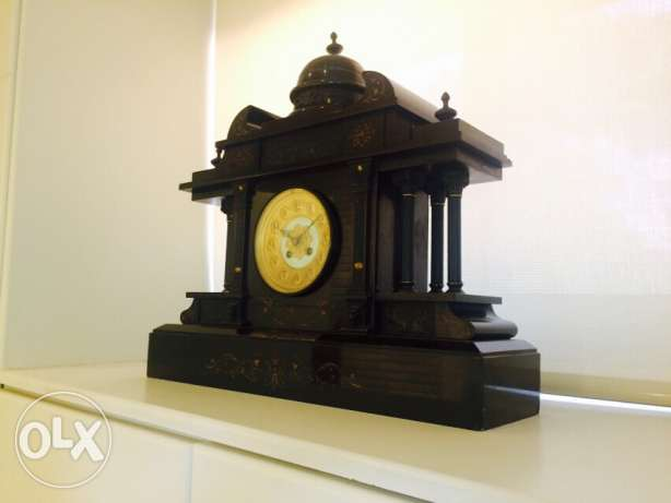 Antique 1909 Full Marble and Stone Clock