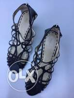 Pre-Owned Enzo Angiolini black leather sandals