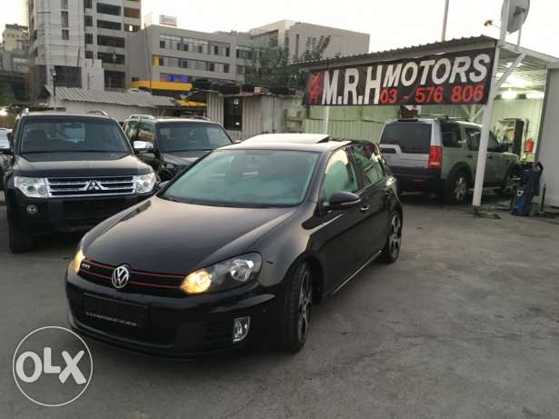VW Golf VI GTI 2012 Black Fully Loaded in Excellent Condition! بوشرية -  2