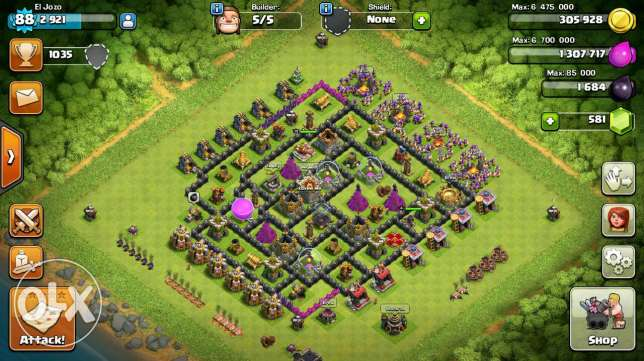 Clash of clans TH9 available name change جديدة -  1