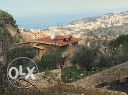 land with view in beit chabeb with small old house