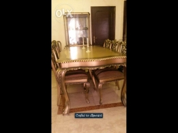 Hand crafted beechwood, antique Louis XV style dining room