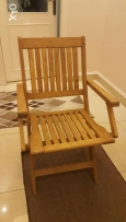 Water proof 4 chairs tek real woodمقاوم للماء