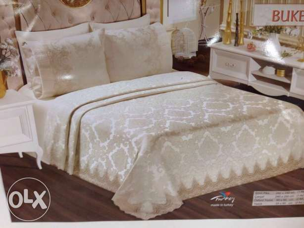 Perlam Turkish bed set of marriage 6 pcs two colors available