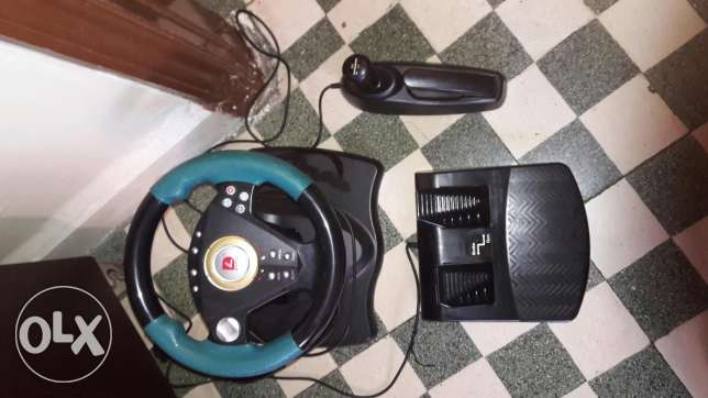 Ps2 racing wheel with ps2 bag
