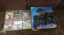 Ps3 with 4 joystick 6 game