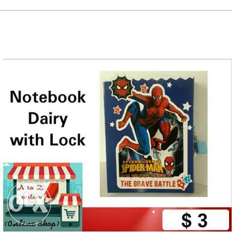 Notebook Dairy with Lock