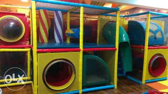 Indoor play area jungle gym