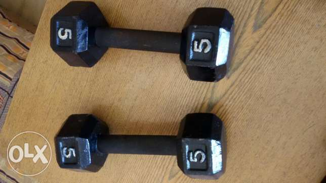 2 Weight lifters 5kg each