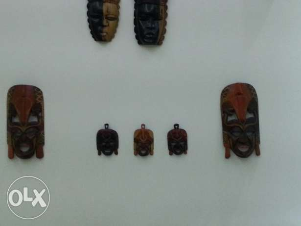 Wooden african masks