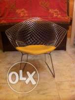 Two Bertoia Diamond chairs