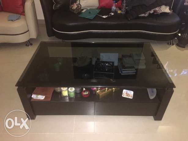 Table with glass