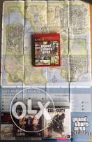 Playstation 3 + GTA San andreas + COD Advanced warfare