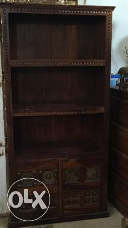 A library cupboard solid wood with copper special offer