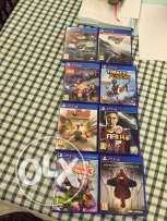 8 ps4 games for 220$